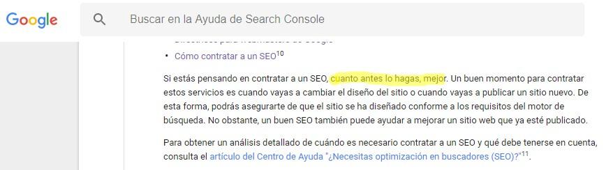 Contratar un SEO por Google