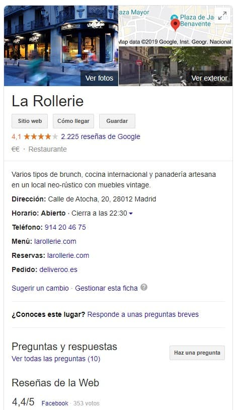 la rollerie google my business