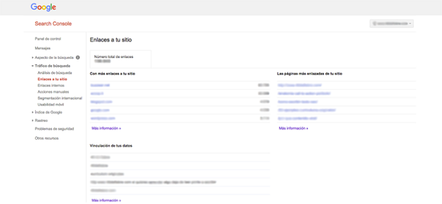 Captura de Google Search Console